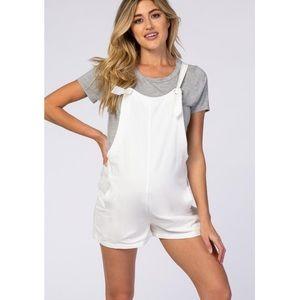PinkBlush overall shorts romper nwot